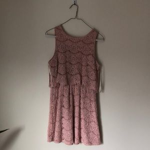 Pale Pink Lace Dress